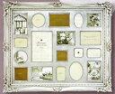 「アンティークスタイルフォトフレーム 18ウィンドー・シルバー 」ラグジュアリー・アンティーク (壁掛けフォトフレーム)(結婚祝 …