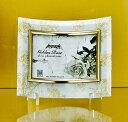 「ゴールデンローズ ガラスフォトフレーム (1ウィンドー・ホワイト)」   (フォトフレーム 写真たて 写真立て フォトスタンド…
