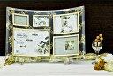 「ゴールデンローズ ガラスフォトフレーム (5ウィンドー)」   (フォトフレーム 写真たて 写真立て フォトスタンド)(結婚祝…