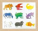「どうぶつ」エリック カール 可愛い雰囲気のアートポスター[絵画通販]はらぺこあおむし 絵 絵画 かわいい 【絵のある暮らし】【壁掛けフック付き】