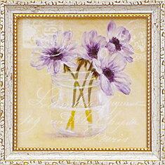 「アネモネ」コレン サラ (花 ・風景画アートポスター)[絵画通販]紫の花 パープル 絵 絵画 アート【壁掛けフック付き】【絵のある暮らし】