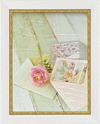 「ブルーミング レター」マンディー リン【通信販売】(花・ミニゲルアートポスター[絵画通販]花の絵 花 ピンク ピンクの花 絵 絵画 アート【壁掛けフック付き】【絵のある暮らし】