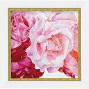 「ローズ2」アニー バードラット【通信販売】(ミニゲル アートポスター[絵画通販])ピンクの花 赤い花 ピンク 赤 花 ばら 薔…
