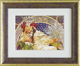 「ヒヤシンス姫」アルフォンス・ミュシャ(世界の名画・アルフォンス・ミュシャ  アートポスター[絵画通販])【絵のある暮らし】【壁掛けフック】