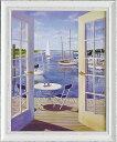 楽天ランキング1位獲得作品「テーブル オン ザ ハーバー」キャロル サクス 特殊ゲル加工アート[絵画通販・海]【壁掛けフック付…