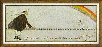 【送料無料】「ずっとあなたを待ち続けて」サムトフト・可愛い雰囲気の特殊ゲル加工アート[絵画通販]【壁掛けフック付き】【絵のある暮らし】