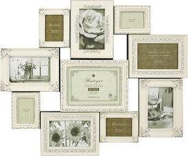 「デコレーション10ウォールフレーム・アンティークバニラ 」ラグジュアリー・アンティーク (壁掛けフォトフレーム)(結婚祝い 結婚内祝い ウエディング)(出産祝い)[フォトフレーム通販]【絵のある暮らし