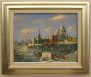 「ベニス」L.カズー(F6サイズ油彩画[油絵]・外国風景画・イタリア(ベニス)[絵画通販]【壁掛けフック付き】【絵のある暮らし】