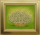 「華(白い華)」的場錠【送料無料/通信販売】(F8サイズ油彩画[油絵](直筆油彩画)・開運風水画・静物・白い花[絵画通販])【絵のある暮…