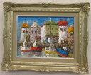「コートダジュール」渡部ひでき(F4サイズ油彩画[油絵]・外国風景画・フランス[絵画通販]【壁掛けフック付き】【絵の…