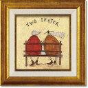 「ふたり席」サムトフト・可愛い雰囲気の特殊ゲル加工アート[絵画通販]【壁掛けフック付き】【絵のある暮らし】