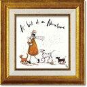 「ほんの少しの冒険」サムトフト・可愛い雰囲気の特殊ゲル加工アート[絵画通販]【壁掛けフック付き】【絵のある暮ら…
