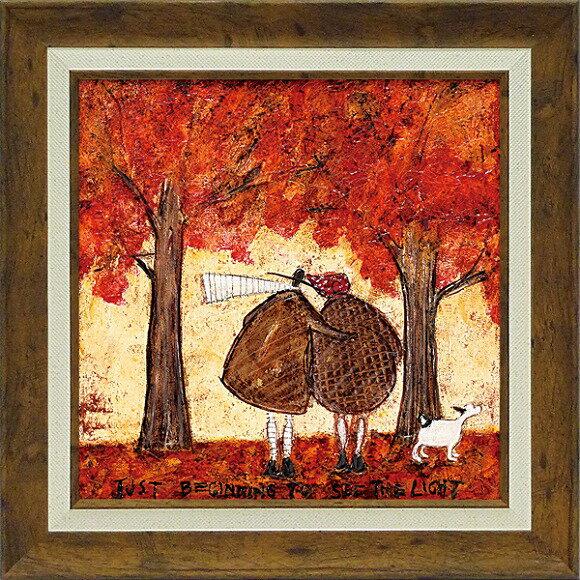 「光を見始めて」サムトフト・可愛い雰囲気の特殊ゲル加工アート[絵画通販]【壁掛けフック付き】【絵のある暮らし】