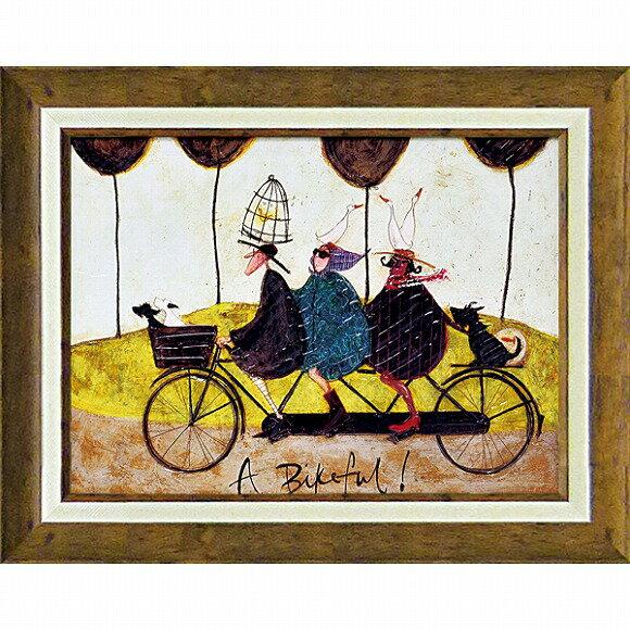 「バイクフル!」サムトフト・可愛い雰囲気の特殊ゲル加工アート[絵画通販]【壁掛けフック付き】【絵のある暮らし】