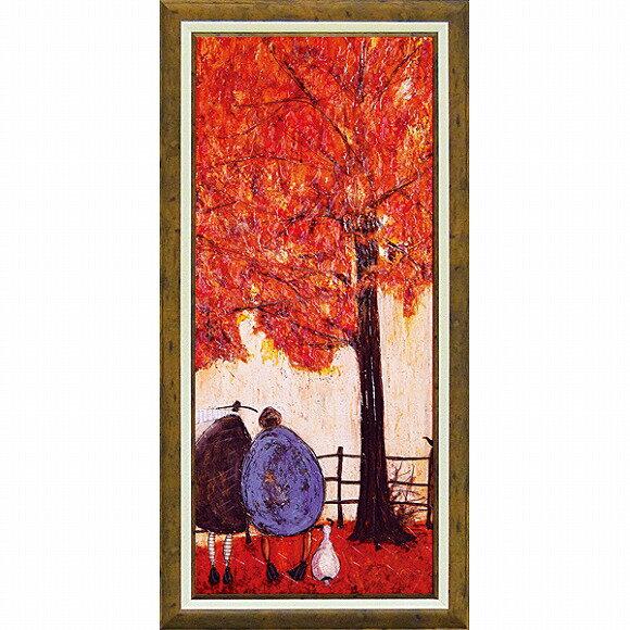 【送料無料】「オータム」サムトフト 可愛い雰囲気の特殊ゲル加工アート・犬・イヌ・いぬ[絵画通販]【壁掛けフック付き】【絵のある暮らし】
