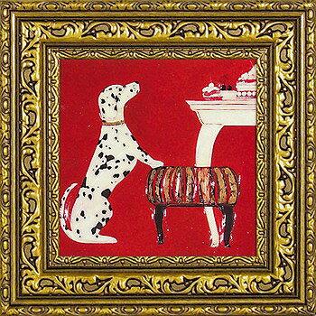 「ブチ」ドミンゲス【通信販売】(犬・猫・いぬ・ねこ・イヌ・ネコ・特殊ゲル加工アート[絵画通販])【壁掛けフック付き】【絵のある暮らし】