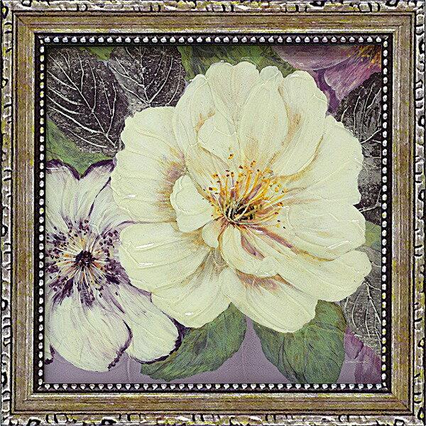 「プラムアンドラベンダーガーデン1」コレン サラ (花 ・風景画アートポスター)[絵画通販]【壁掛けフック付き】【絵のある暮らし】