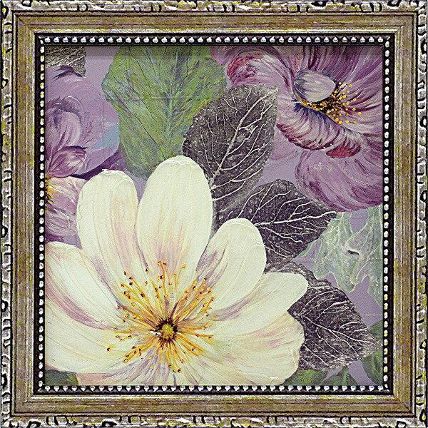 「プラムアンドラベンダーガーデン2」コレン サラ (花 ・風景画アートポスター)[絵画通販]【壁掛けフック付き】【絵のある暮らし】