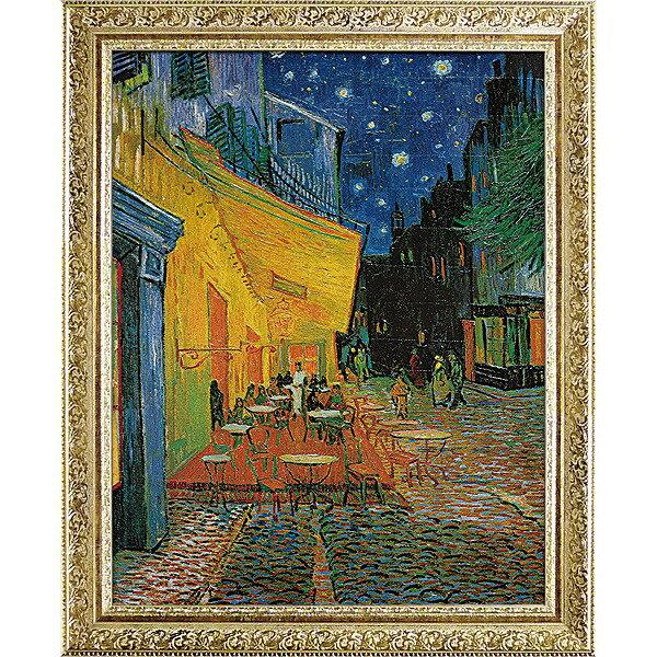 【送料無料】「夜のカフェテラス」ゴッホ(世界の名画・ゴッホ[絵画通販])【壁掛けフック付き】【絵のある暮らし】