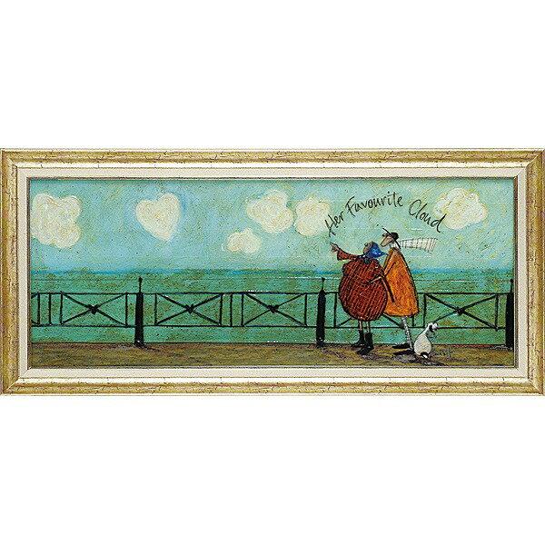 【送料無料】「彼女の好きなハート雲」サムトフト・可愛い雰囲気の特殊ゲル加工アート[絵画通販]【壁掛けフック付き】【絵のある暮らし】