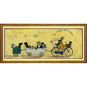 ☆楽天ランキング1位獲得作品☆「いぬタクシー」サムトフト・犬・可愛い雰囲気の特殊ゲル加工アート[絵画通販]【壁掛けフック付き】【絵のある暮らし】