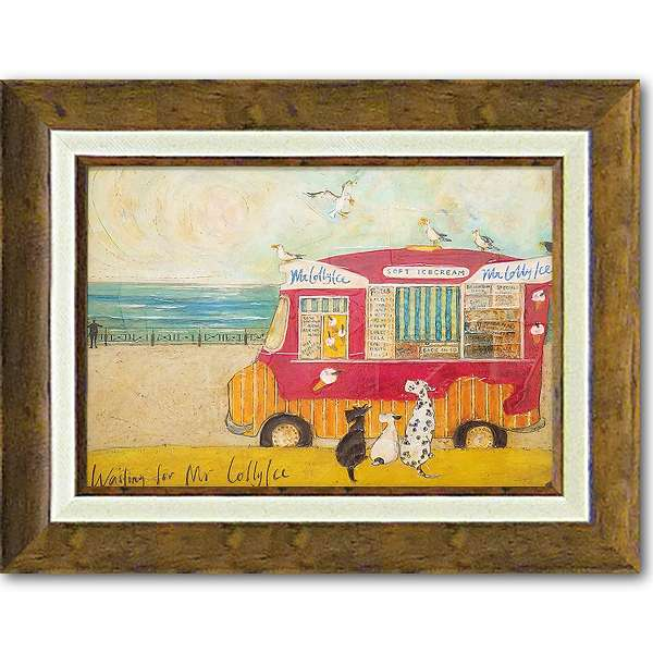 「アイスクリーム食べたいなあ」サムトフト・可愛い雰囲気の特殊ゲル加工アート[絵画通販]【壁掛けフック付き】【絵のある暮らし】