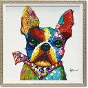 「バンダナ ブル」Sサイズ オイルペイントモダンアート[絵画通販]犬・イヌ・いぬ・油絵・絵・ハンドメイド・動物【絵のある暮らし】…