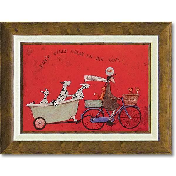 「ドンドディリダリー」サムトフト・可愛い雰囲気の特殊ゲル加工アート[絵画通販]【壁掛けフック付き】【絵のある暮らし】