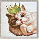 【送料無料】「キングキャット」Mサイズ オイルペイントモダンアート・ねこ・ネコ・猫・動物・油絵・ハンドメイド[絵画通販]【絵のあ…