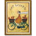 「キャットバスケット」サムトフト 可愛い雰囲気の特殊ゲル加工アート[絵画通販]【壁掛けフック付き】【絵のある暮らし】ねこ・ネコ…