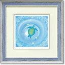 「blue moment」Mサイズ くりのきはるみ 【通信販売】くりのきはるみ版画作品[絵画通販])栗乃木ハルミ うみがめ ウミガメ 海 ギ…