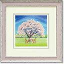 「お花見2」Mサイズ  くりのきはるみ 【通信販売】くりのきはるみ版画作品[絵画通販]桜 さくら お花見 春 絵 絵画 絵のある…
