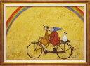 「虹に向かって」サムトフト☆楽天ランキング1位獲得作品☆可愛い雰囲気の特殊ゲル加工アート・犬・イヌ・いぬ[絵画通販]【壁掛けフ…
