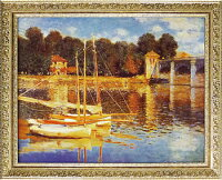 「アルジャントゥイユの橋」モネ(世界の名画・モネ・[絵画通販])【壁掛けフック付き】【絵のある暮らし】