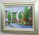 「街角の風景」(パリ・フェロヌリ通り)黒沢久(F6サイズ油彩画[油絵](直筆油彩画)・外国風景画(ヨーロッパ)・フランス・パリ[絵画…