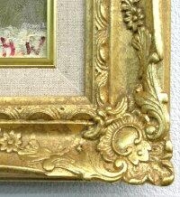 「薔薇」渡部ひでき楽天ランキング受賞作品(サムホールサイズ油彩画[油絵](直筆油彩画)・静物画・バラ(花籠)[絵画通販])【壁掛けフック付き】【絵のある暮らし】