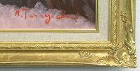 「赤富士」谷口春彦【送料無料/通信販売】(F10サイズ油彩画[油絵]直筆油彩画・開運風水画・赤富士縁起画・ゴールド額[絵画通販](富士山))【絵のある暮らし】