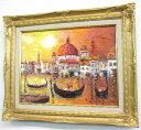 楽天ランキング受賞作品「ベニス」渡部ひでき【送料無料/通信販売】(F6サイズ油彩画[油絵]直筆油彩画・外国風景画・イタリア(ベニス)[…