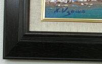 【送料無料】「上高地・河童橋」楽天ランキング1位獲得作品羽沢清水(F6サイズ油彩画[油絵]直筆油彩画・日本風景画・上高地風景画[絵画通販]【壁掛けフック付き】【絵のある暮らし】