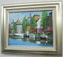 「マルセイユ」黒沢久(F6サイズ油彩画[油絵](直筆油彩画)外国風景画(ヨーロッパ)・フランス最大の港湾都市[絵画通販]【絵のある暮ら…