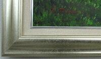 「陽光」戸田彰楽天ランキング1位獲得作品(F10サイズ油彩画[油絵](直筆油彩画)・ヒーリングアート・森林風景画・御祝・お祝い・[絵画通販])シルバーフレーム【壁掛けフック付き】【絵のある暮らし】