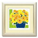 「青の鉢と黄色の花束」楽天ランキング8位獲得作品 藤谷壮仁郎(Soujirou)ジークレー版画作品(FWシリーズ・FLOWER ART)(絵画通販)…