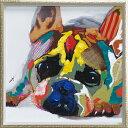 「カラフルブルドッグ」Mサイズ オイルペイントモダンアート[絵画通販]ブルドッグ・犬・いぬ・イヌ・ハンドメイド・油絵・動物・絵【…