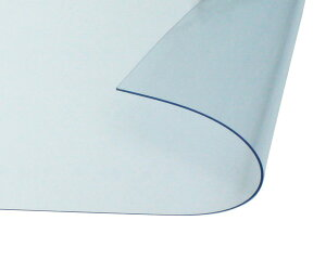 オーダーメイド 屋内向け 防炎、制電 ビニールカーテン 0.3mm厚 製作幅7,210mm〜9,000mm内 製作高さ1,000mm内 透明 糸なし HE-030B-05 日中製作所