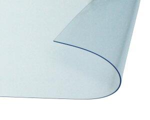 オーダーメイド 屋内向け 防炎、制電 ビニールカーテン 0.3mm厚 製作幅5,410mm〜7,200mm内 製作高さ3,000mm内 透明 糸なし HE-030B-14 日中製作所
