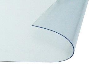オーダーメイド 屋外、屋内兼用 防炎、制電 ビニールカーテン 0.5mm厚 製作幅1,000mm〜1,800mm内 製作高さ2,000mm内 透明 糸なし HE-050B-06 日中製作所