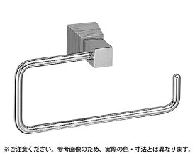 BT-115 ラックスタオルリングクローム/黒ウッド【シロクマ】