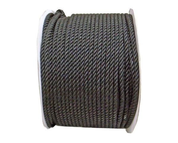 綿ロープ 6ミリ (黒) 200M ドラム巻