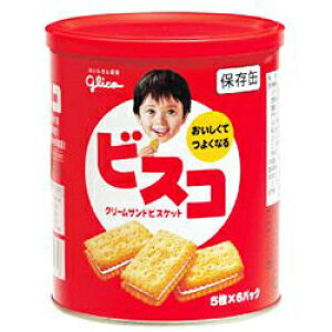 ビスコ保存缶(5年保存)30枚入(5枚×6パック)×1缶