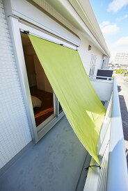 【日本製】サンシェード[90×140cm]UVカット機能付きで日差しを程よく遮り、風通しよく。(雨除け 物干し 日よけ 目隠し 撥水 ベランダ)